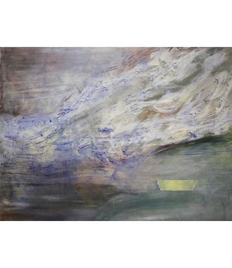 Loďka papierová. Maľba na plátne