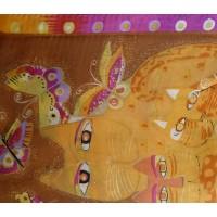 Šatka hodvábna Butterfly Salmon