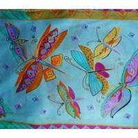 Šatka hodvábna Butterfly Blue